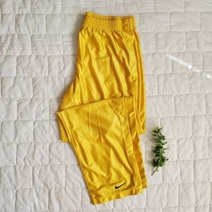Nike Vintage 90's Yellow Tearaway Snap Pants